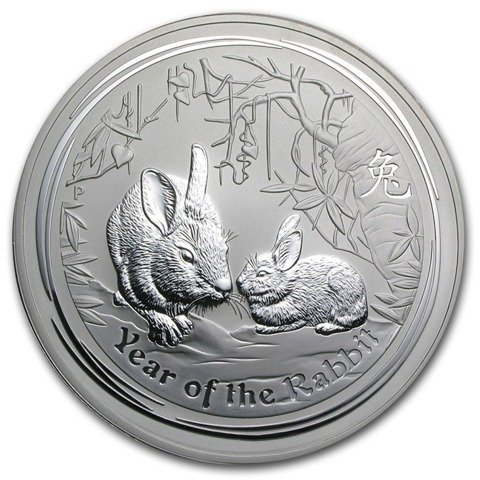 Lunar II: Year of the Rabbit 1000 gram Silver 2011