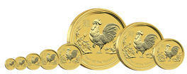 Lunar II: Year of the Rooster 1/4 oz Gold