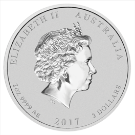 Lunar II: Year of the Rooster 2 oz Silver 2017