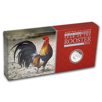 Lunar II: Year of the Rooster 3-Coin Set 1 oz Silver 2017