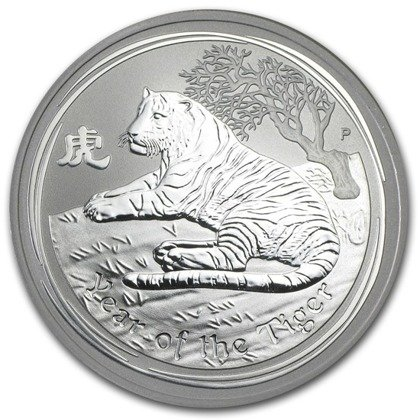 Lunar II: Year of the Tiger 2 oz Silver 2010