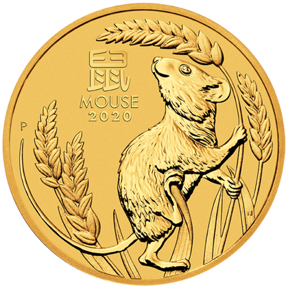 Lunar III: Year of the Mouse 2 oz Gold 2020