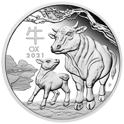 Lunar III: Year of the Ox 1 oz Silver 2021 Proof