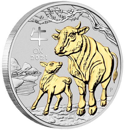Lunar III: Year of the Ox Silver 2021 Proof 3 Coin Set