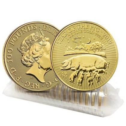 Lunar: Year of the Pig 1 oz Gold 2019 Royal Mint UK