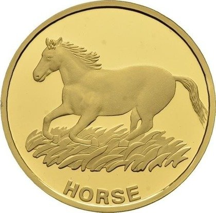 North Korean Horse 31 g Gold 2015