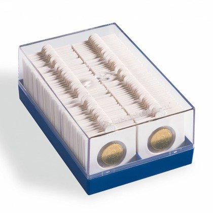Plastic box for 100 COIN HOLDERS 2X2