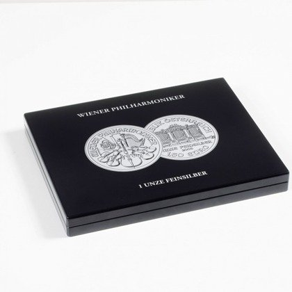 Presentation cases for 20 Vienna Philharmonic Silver coins in capsules Leuchtturm