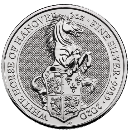 The Queen's Beasts 2020: The White Horse of Hanover 2 oz Silver