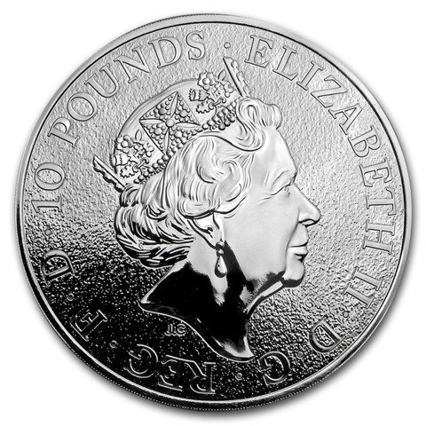 The Queen's Beasts: The Lion 10 oz Silver 2017