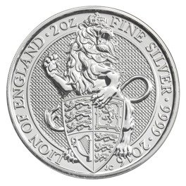 The Queen's Beasts: The Lion of England 2 oz Silver 2016