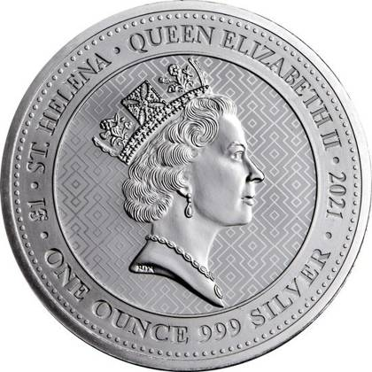 The Queen's Virtues: Victory 1 oz Silver 2021