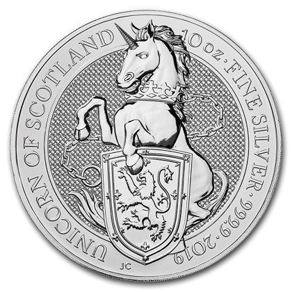 The Unicorn of Scotland 10 oz Silver 2019 The Queen's Beasts