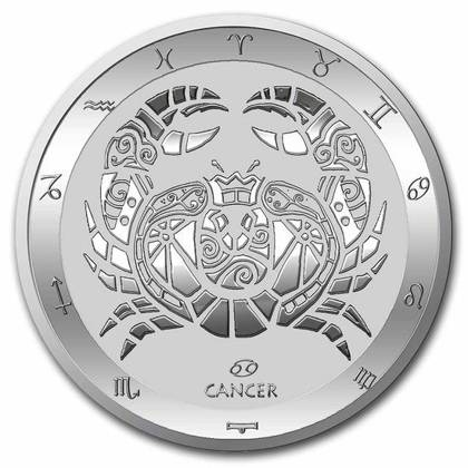 Tokelau: Zodiac Series - Cancer 1 oz Silver 2021