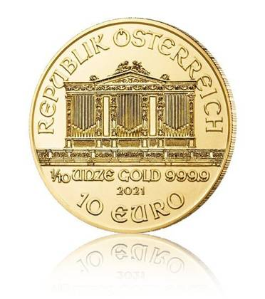Vienna Philharmonic 1/10 oz Gold 2021