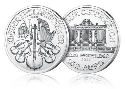 Vienna Philharmonic 1 oz Silver 2021 Investment Sets 500 Pc.