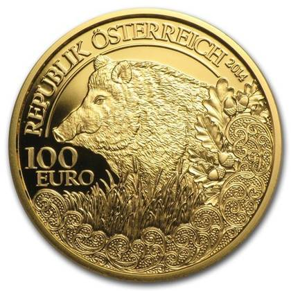 Wildlife in our Sights: The Wild Boar 100 Euro 2014 Proof