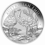 2-Coin Set Australian Emu 1 oz Silver 2018 and 2019