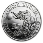 African Wildlife: Elephant 1 oz Silver 2016