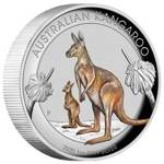 Australian Kangaroo 1 oz Silver 2020 Proof Colorized High Relief