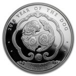 Bhutan: Year of the Dog 1oz Silver 2018