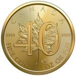 Canadian Maple Leaf 1 oz Gold 2019 (40th anniversary)