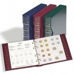 Coin album NUMIS Classic design with SLIPCASE incl 5 different pockets (red)