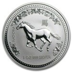 Lunar I: Year of the Horse 1 oz Silver 2002