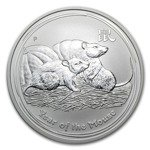 Lunar II: Year of the Mouse 1 oz Silver 2008