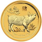 Lunar II: Year of the Pig 1 oz Gold 2019