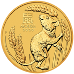 Lunar III: Year of the Mouse 1/10 oz Gold 2020