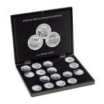 Presentation cases for 20 Somalia Elephant Silver coins in capsules Leuchtturm
