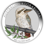 World Money Fair Berlin 2021: Kookaburra 1 oz Silver 2021 Colorized
