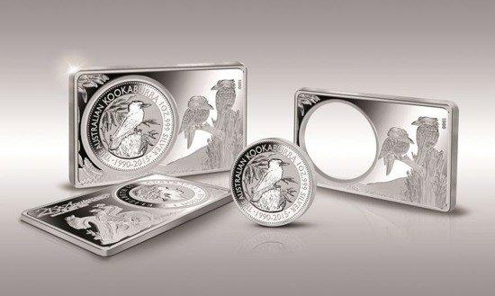 2 Stück Silber Barren Münzen Set 25 Jahre Kookaburra 2015