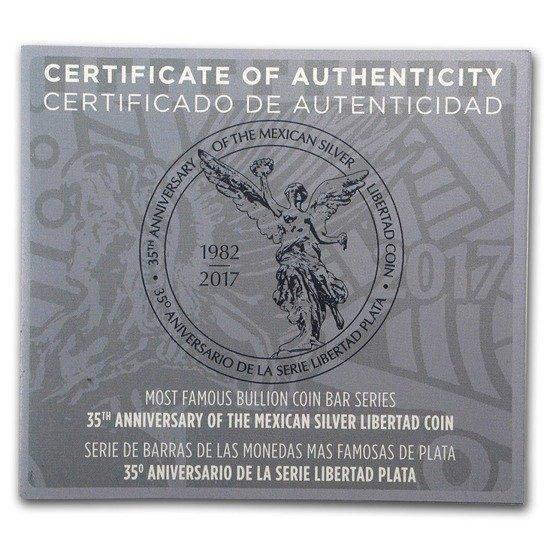 2 Stück Silber Barren Münzen Set 35 Jahre Mexikanische Libertad