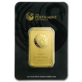 10 oz Goldbarren Perth Mint