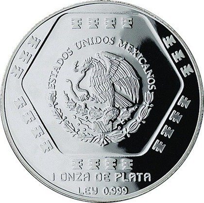 1994 Mexico 1 oz Silber 5 Chac Mool Proof