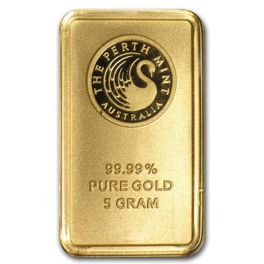 5 gram Goldbarren Perth Mint