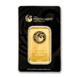 50 gram Goldbarren Perth Mint