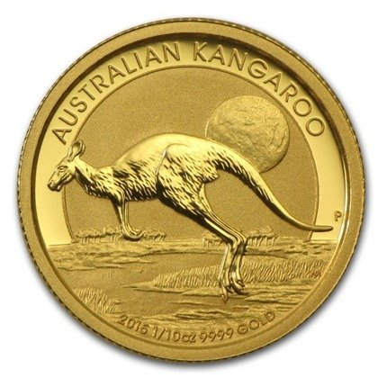 Australisches Känguru 1/10 oz Gold 2015