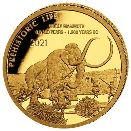 Congo: Prehistoric Life - Wollhaarmammut 0.5 g Gold 2021