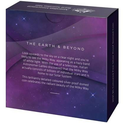 Earth and Beyond: The Milky Way 1 oz Silber 2021 Proof