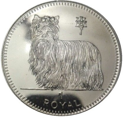Gibraltar Royal: Yorkshire terrier 1 oz Silber 1997 Proof