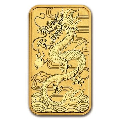 Goldmünze  Bar Drache 1 oz Gold 2018