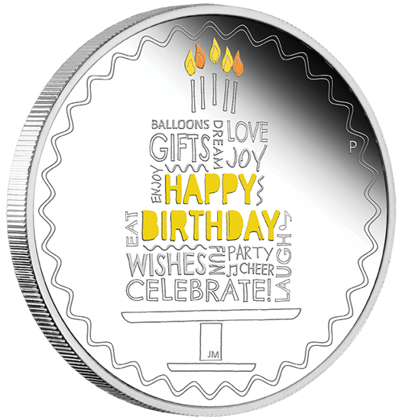 Happy Birthday 1 oz Silbermünze 2021 Proof