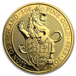 The Queen's Beasts: The Lion 1 oz Gold 2016
