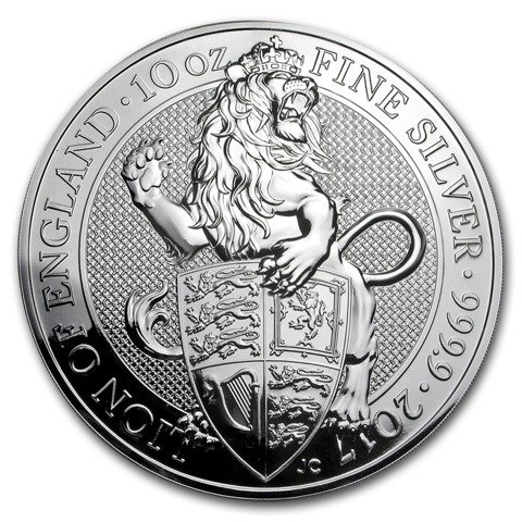 The Queen's Beasts: The Lion 10 oz Silber 2017