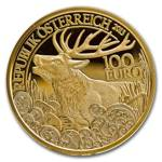 Wildlife in our Sights: Red Deer 100 Euro 2013 Proof