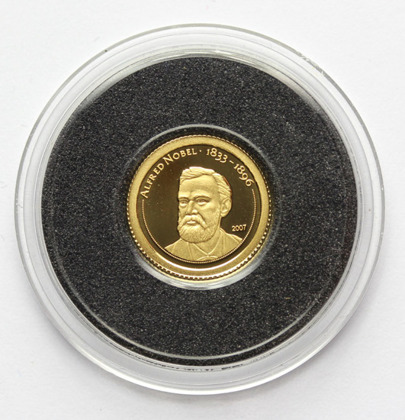 Alfred Nobel 0,5 g Złota 2007 Proof