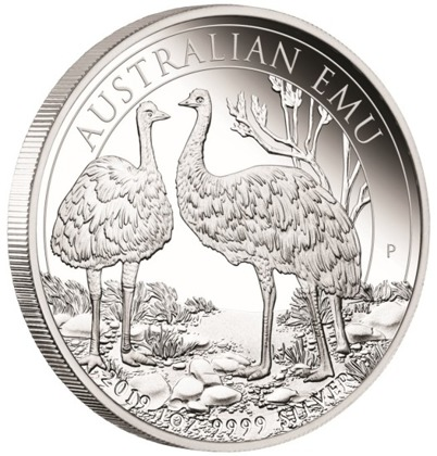 Australian Emu 1 oz Silver 2019 Proof COA from 1 to 20